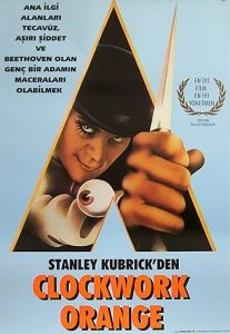 Otomatik Portakal ( A Clockwork Orange ) film posteri